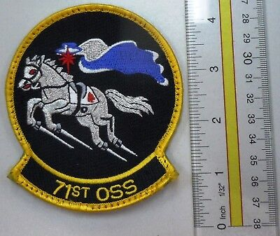 Usaf Air Force Military Patch Hook Loop Back Pilot Training 71St Oss