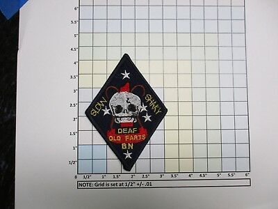 non USAF MILITARY PATCH US NAVY USN SLOW SHAKY DEAF OLD FARTS BN ARMY ?