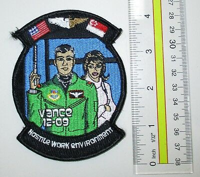 Usaf Military Patch Air Force Hook Loop Vance Pilot Training Class 12-09
