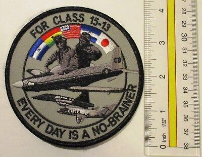 Usaf Military Patch Pilot Training Class 15-13 Everyday Is A No Brainer
