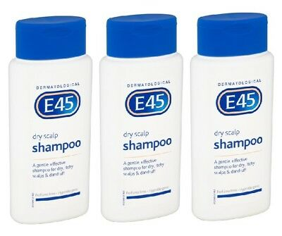 THREE E45 DRY SCALP SHAMPOO 200ml-For Dry, Itchy Scalps & Dandruff -Perfume Free