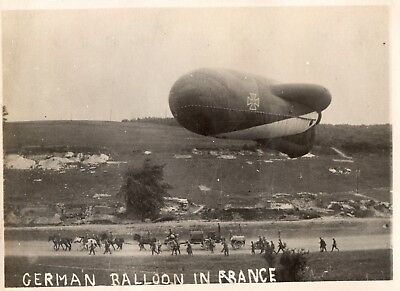 Photo USA - Ballon saucisse allemand sur le front de France - Guerre 1914 1918