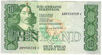 1985 South Africa 10 Rand Note.