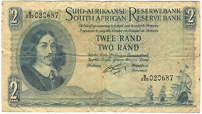 1962 South Africa 2 Rand Note.