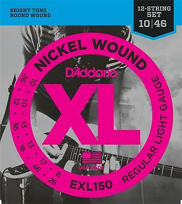 D'Addario EXL150 Nickel Wound Light 12-String Elec