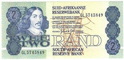 1981 South Africa 2 Rand Note.UNC