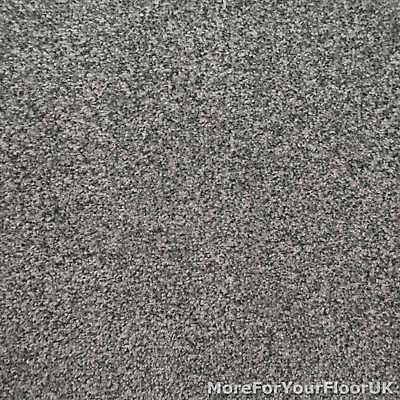 Ash Grey Liberty Heathers Twist Carpet Cheap Flecked Bedroom Felt Backing 4m