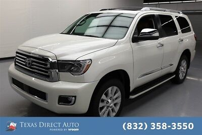 2018 Toyota Sequoia Platinum Texas Direct Auto 2018 Platinum Used 5.7L V8 32V Automatic 4WD SUV