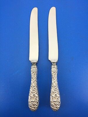 2 - Stieff Rose Sterling Silver Knives