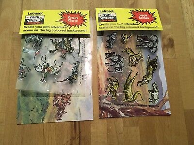 Vintage Letraset Mini Action - Rub Down - Action Transfers - Jungle & Cavalry