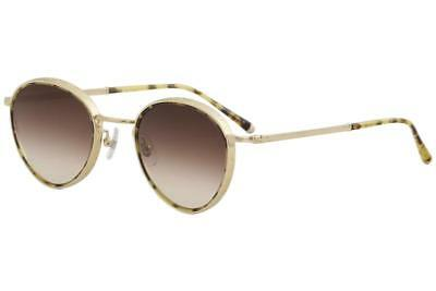 c31e6973a97 Matsuda Men s M3070 M 3070 TOT-BG Tortoise Brushed Gold Round Sunglasses  47mm