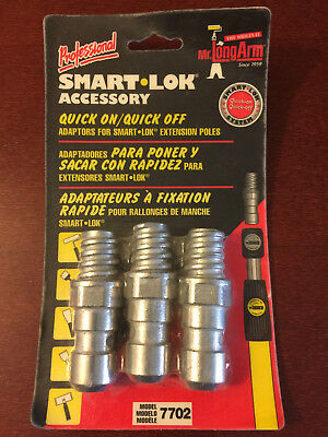 Mr. LongArm 7702 Smart-Lok Adaptor 3-Pack New In Package Fast Free Shipping!