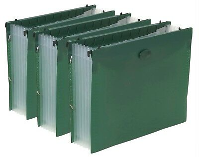 Expanding divider hanging File Folder with 7 Divider Pocket - 3 Pack