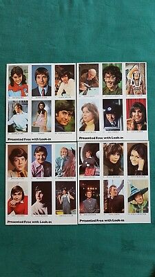Look-In Super Stars 1971 Television Album & 24 Stickers On 4 Uncut Sheets