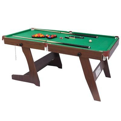 Snooker Table Folding Shiny Trading 6FT Pool Green Kids Adults Strong sturdy New