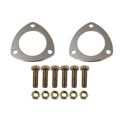 """2-1/2"""" Triangle Soft Crush Aluminum Header Collector Gaskets With Bolts 2.5in"""