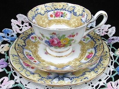 Royal Albert Valentine Pink Rose Floral Bow & Lace Trio Tea Cup And Saucer