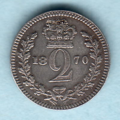 Great Britain.  1870 Victoria - Maundy Twopence..  gVF