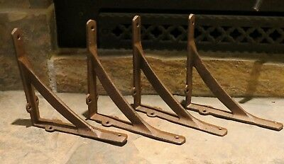 "Set of 4 Large Simple Arch Cast Iron Shelf Brackets, Brace, Measures 7.5"" x 7.5"""