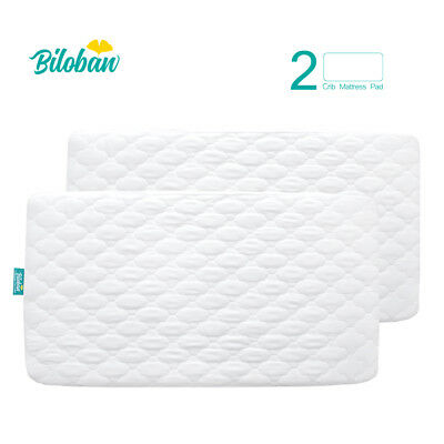 "Toddler Baby Crib Mattress Cover Waterproof Comfort Soft Pad 52""x 28"", 2 Pack"