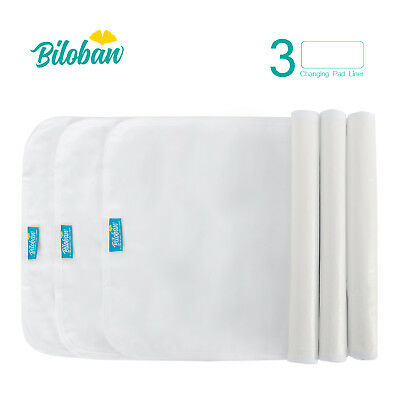 Infant Soft 100% Cotton Baby Diaper Changing Pad Cover Liner Waterproof 3 Pack