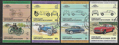 ST VINCENT Grenadines UNION IS 1985 CARS (2nd Series) 4 pairs 8 values FINE USED