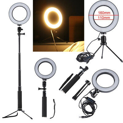 Dimmable 64LED Camera Ring Light Kit 5500K Makeup Photo Phone Video  Lamp Selfie