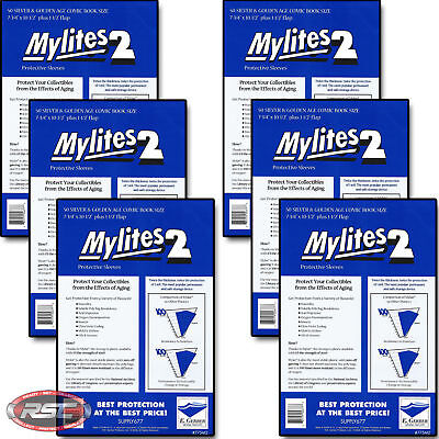 300 - E. GERBER MYLITES 2 SILVER & GOLDEN AGE 2-Mil Mylar Comic Bags 775M2