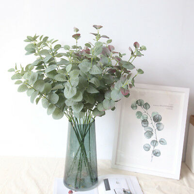 Artificial Silver Dollar Eucalyptus Leaf Spray Party Artificial Greenery Wreath