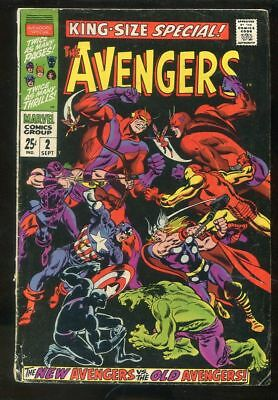 Avengers Annual 1 2 4 5 VG lot Spiderman Hulk 1960s Marvel Silver