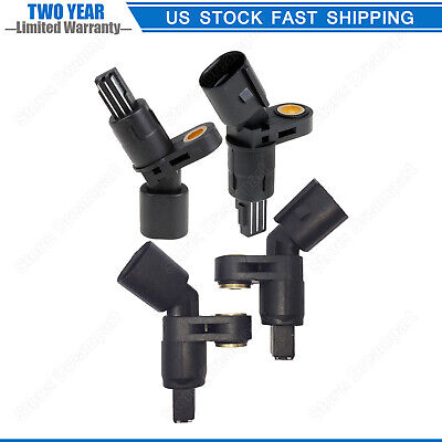 Pack of 4 ABS Sensor Front Rear For 2000 01 02 03 04 2005 VW Golf Jetta Beetle