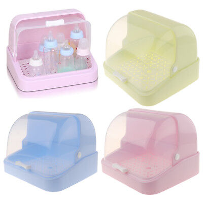Baby Bottle Drying Rack Dustproof Spoon Feeding Cup Holder Dishes Organizer