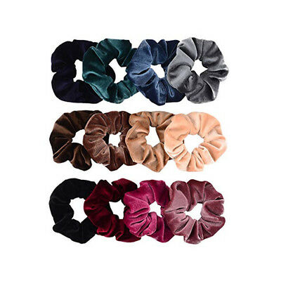 Women Girl Elegant Velvet Hair Ties Scrunchies Scrunchy Ponytail Holder 12pcs