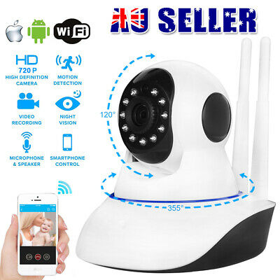 HD 1080P Dual Antenna WiFi Wireless Security Camera Night Vision P2P IP CCTV PTZ