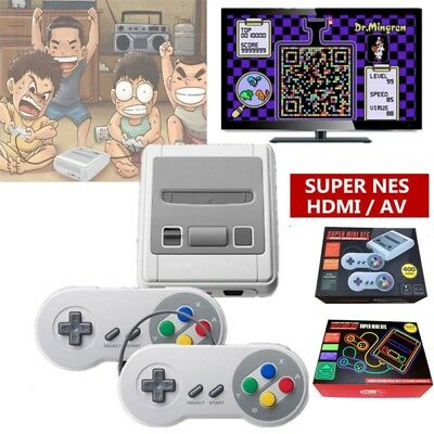 HDMI TV Game Home  8 Bit Classic Built-in 621 Games 2 Controllers Game Console