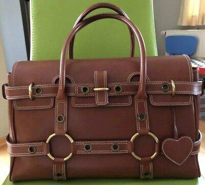 08fa07aa1673 Mulberry Luella Giselle bag HANDTASCHE GROSS saddlebrown braun leather XXL