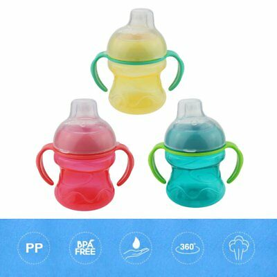 Baby Toddler Feeding Water Bottle Kids Sippy Cup Learn Drinking Nipple Bottle AU