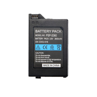 Portable Rechargeable 3.6V 3600mAh Battery Pack Black For PSP1000 Console AC1595