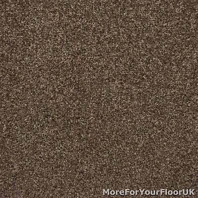 Earth Brown Liberty Heathers Twist Carpet Cheap Flecked Bedroom Felt Backing 4m