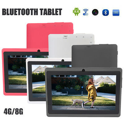 """7"""" Inch Android Tablet 4/8GB Quad Core 4.4 Dual Camera Bluetooth WIFI Tablet UK"""