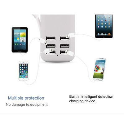 6 USB Port Desktop Charger Rapid Tower Charging Station Power Adapter
