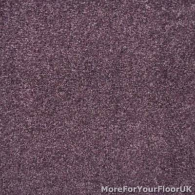 Royal Purple Liberty Heathers Twist Carpet Cheap Flecked Bedroom Felt Backing 4m