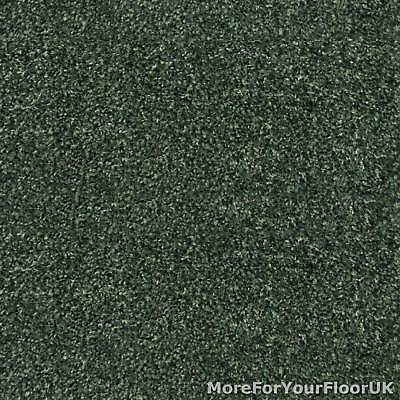 Forest Green Liberty Heathers Twist Carpet Cheap Flecked Bedroom Felt Backing 4m