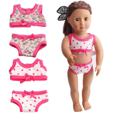 Doll Outfit Swimsuit Swimwear for 18'' American Girl Doll Accessories 2 Set