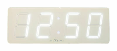 Nextime Wall Clock Table White D 51, 5x18cm Led Digital Office Watch Silent