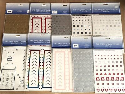 10x Packs of Kanban Diecut Card - Chevron Frame Cards, Buttons - Total 20 Cards