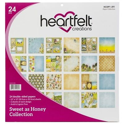 "Heartfelt Creations Double-sided Paper Pad 12""x12"" 24/pkg-sweet As Honey, 12"