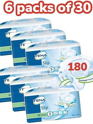 Case Saver Pack Of 6 Tena Super Small 180 Slips Incontinence Aids Pants 711130
