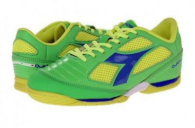 d59746f69 Diadora Quinto IV ID Men Soccer Turf Shoes Size 8.5 Green Yellow - NEW