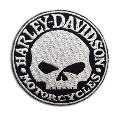 Harley-Davidson Skull Embroidered Patch For Biker Motorcycle Clothing #b031